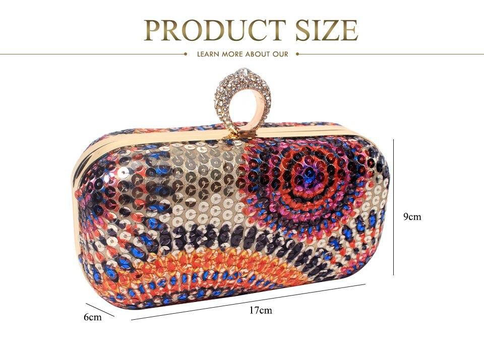 US $16.65 10% OFF|Kolorowe koraliki drukowanie kobiet torby wieczorowe diamenty mała torebka torby Vintage torebki wieczorowe na ślub w Torby z