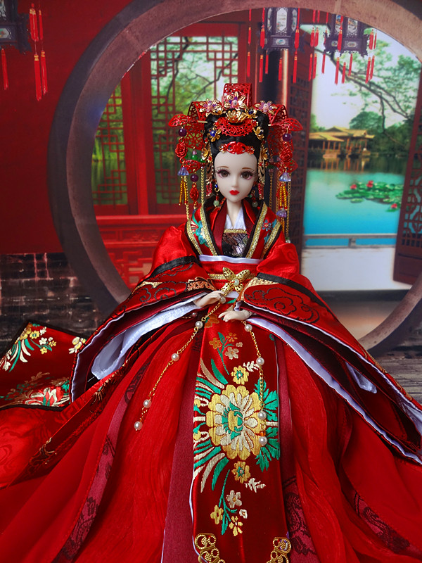 Collectible Chinese Ancient Dolls 32cm Traditional Oriental BJD Doll With 12 Joints Movable Yang GuiFei Series Girl Toys Gifts jinhao ancient grey chinese oriental
