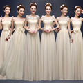 Chiffon bridesmaid dresses for women champagne sisters dresses long fashion design for wedding bridesmaid gowns cheap in stock