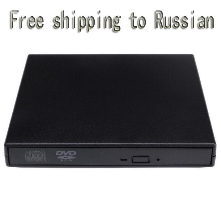 USB DVD Optique Optique lecteur de Disque Durs Portable USB 2.0 DVD CD Dvd-Rom SATA Externe Slim Case pour Pc Portable