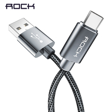 ROCK USB Type C Cable Metal Fast charging USB Type-C Cable for Samsung Galaxy S8 Note 8, OnePlus 2, for Xiaomi 4C USB-C
