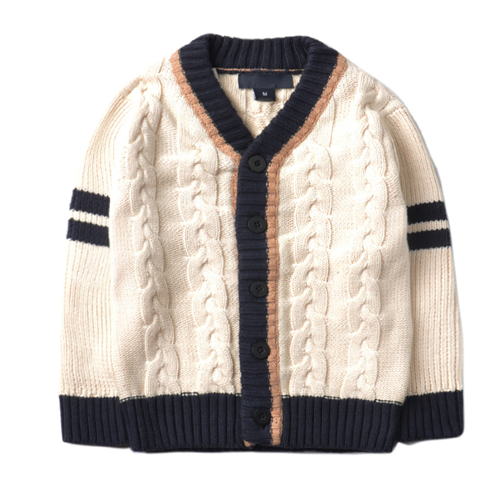 YY-501 Spring Autumn Kids Sweater Baby Boys Girls Long Sleeve Knitted Cardigan Sweater Kids 2-8T Fight color Cotton Outer Wear stylish cowl neck long sleeves color match batwing irregular design cotton blend sweater for women