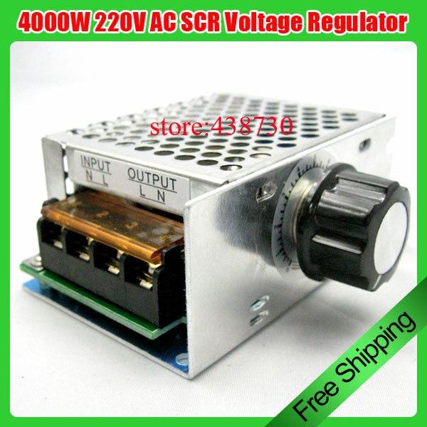 1 piezas 4000 W 220 V AC SCR regulador de voltaje Dimmer controlador de velocidad del Motor eléctrico nuevo