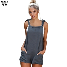 Womail bodysuit Women Summer Fashion Casual Straps Jumpsuits Overalls Shorts Pan
