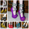100Pairs/Lot Top Sale Mixed Style High Heel 1/6  Doll Shoes Monster Shoes 2016 Wholesale