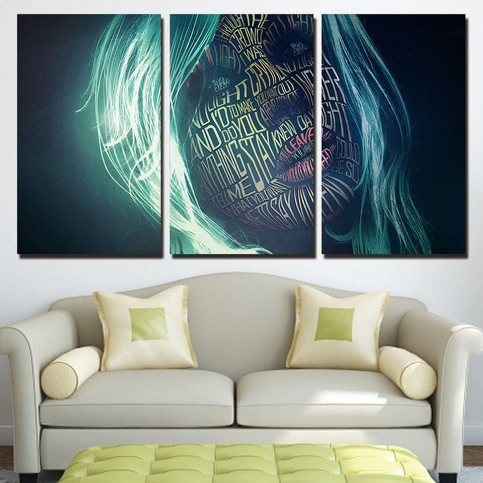Graffiti art home decor - Wall Art Posters For Living Room Home Decor Frames Abstract Pictures 3 Pieces Women Letter Graffiti