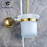 YANJUN Toilet Brush Holder Bathroom Accessories WC Brush With A Long Handle For The Toilet Zinc