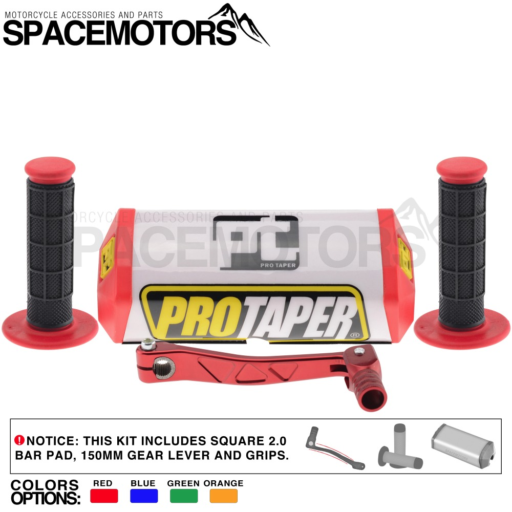 ProTaper 2.0 handlebar pad protector kit with grips & gear lever ...
