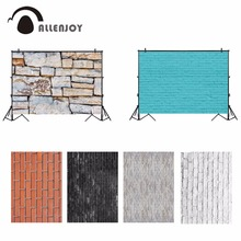 Allenjoy photography backdrop small size various blank brick wall blue white children decor baby background for the photo studio