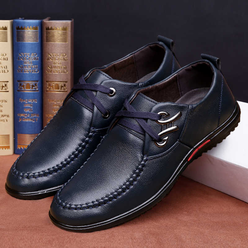 Thời trang mùa hè người đàn ông giản dị giày ren up flat Thoáng Khí ăn mặc giày cưới Làm Việc Văn Phòng Thoải Mái Nam Giày Giải Trí Oxfords