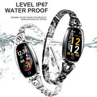 CUJMH H8 Smart Watch Exquisite Bracelet Alloy HD Color Screen Waterproof Heart Rate Blood Pressure Monitoring Smart Wristband