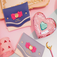 New Arrival Japanese Korea Style Sweetness Heart Bowknot Portability Mini Cute Small Wallet Zipper Student Girl