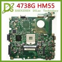 KEFU DA0ZQ9MB6C0 MBR9Y06001 for Acer aspire 4738 4738G 4738Z 4738ZG Laptop motherboard Test HM55 DDR3 original mainboard