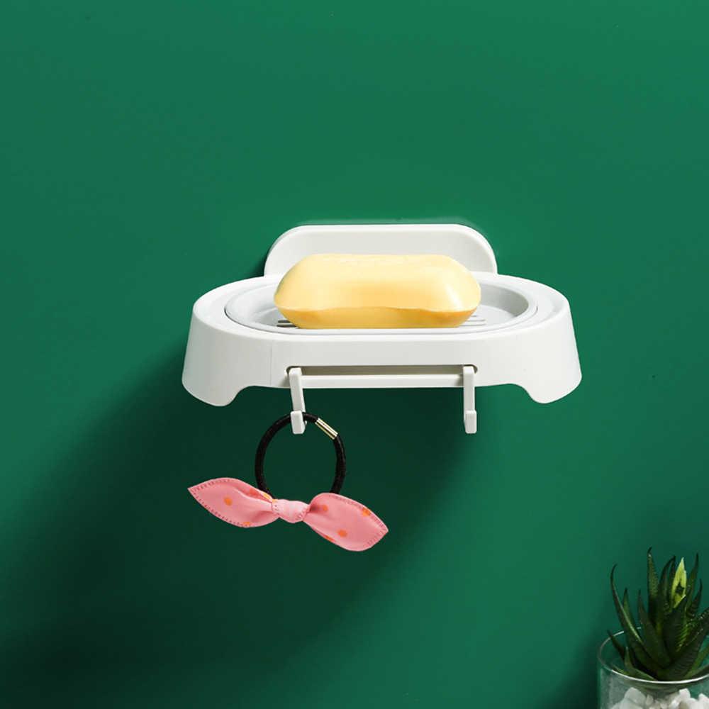 Mydelniczka łazienka pojemnik na mydło pojemnik na talerze pojemnik uchwyt na ścianę uchwyt do użytku domowego na mydło