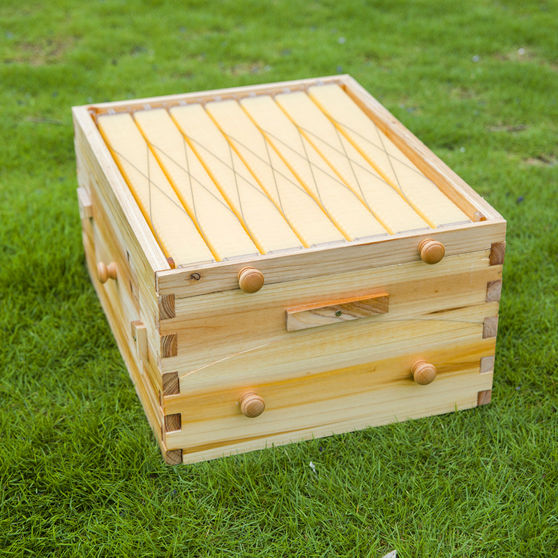 free ship automatic wooden beehive flow hive comb 7 frames with super box in bee hives from. Black Bedroom Furniture Sets. Home Design Ideas