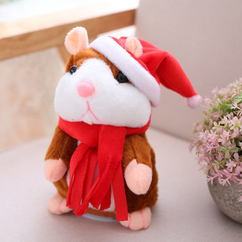 Talking Hamster Mouse Pet Christmas Toy Speak Talking Sound Record Hamster
