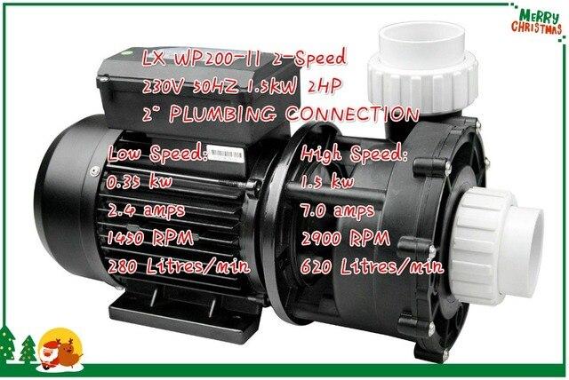 SPA POMPA 2HP 2 VELOCITÀ sostituzione Aqua Flo XP2 FLO MASTER LX WP200 II 2 velocità Della Pompa della piscina 2HP compatabile diretta Waterway 56 Telaio