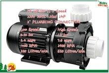 Spa Bơm 2HP 2 Tốc Độ Thay Thế Aqua Flo XP2 FLO MASTER LX WP200 II 2 Tốc Độ BƠM BỂ BƠI 2HP Compatabile trực Tiếp Đường Thủy 56 Khung