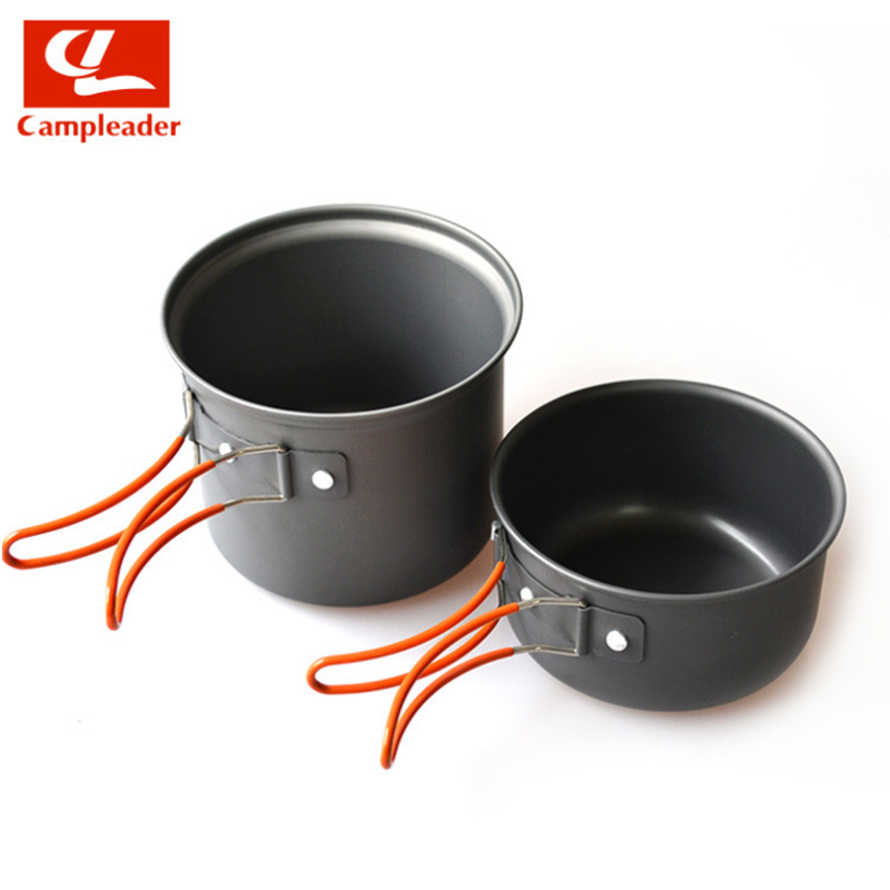Campleader Camping Tableware 1-2 Person Camping Cookware Travel Tableware Picnic Set hiking cooking Utensils Cutlery CL005