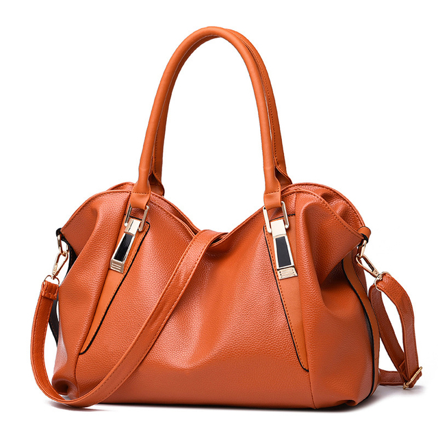 MIWINDPU High Capacity Leisure Solid Color Soft Leather Handbag For Women