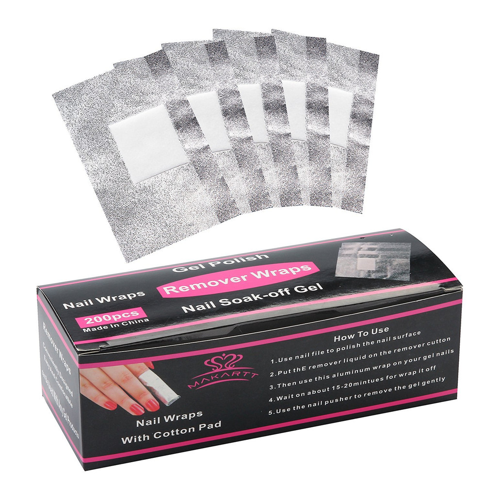 60 caixas lote Nail Art Soak Off