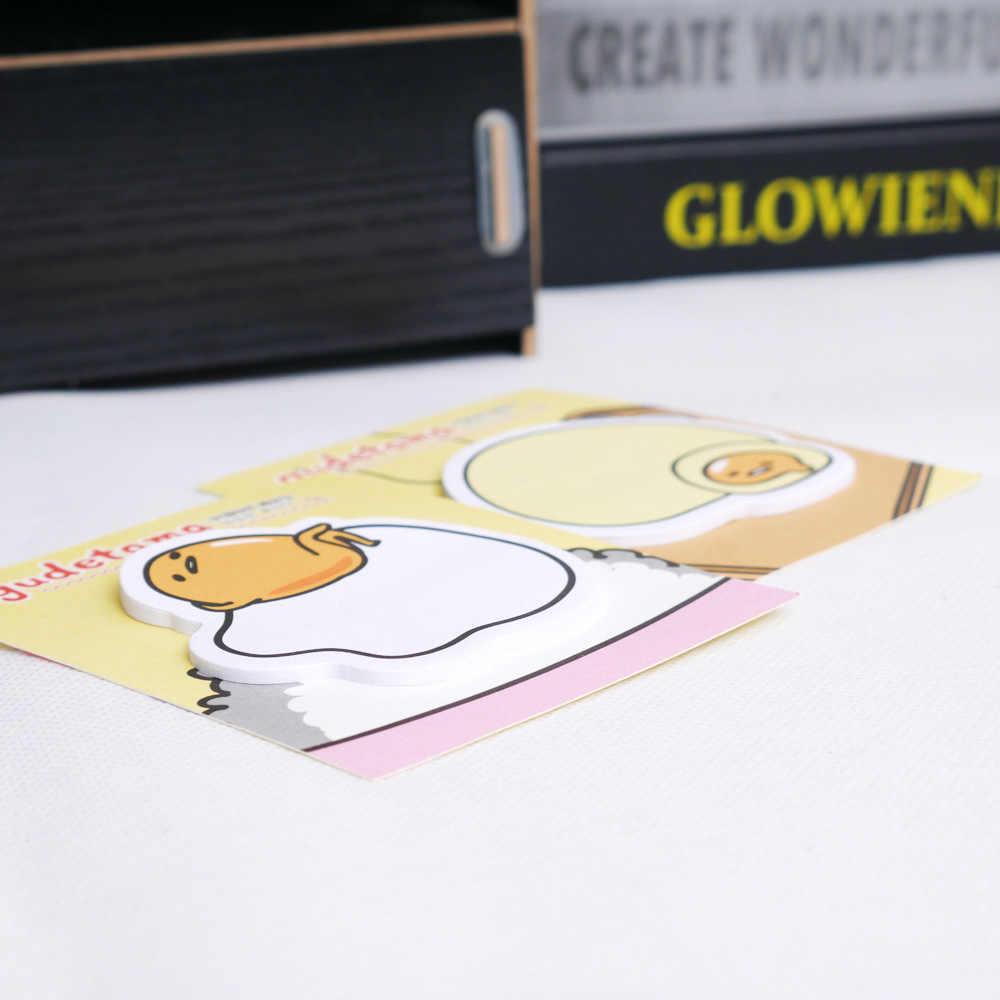 1 PC mignon Kawaii Gudetama paresseux oeuf auto-adhésif mémo Notes collantes décoratif signet école fournitures de bureau