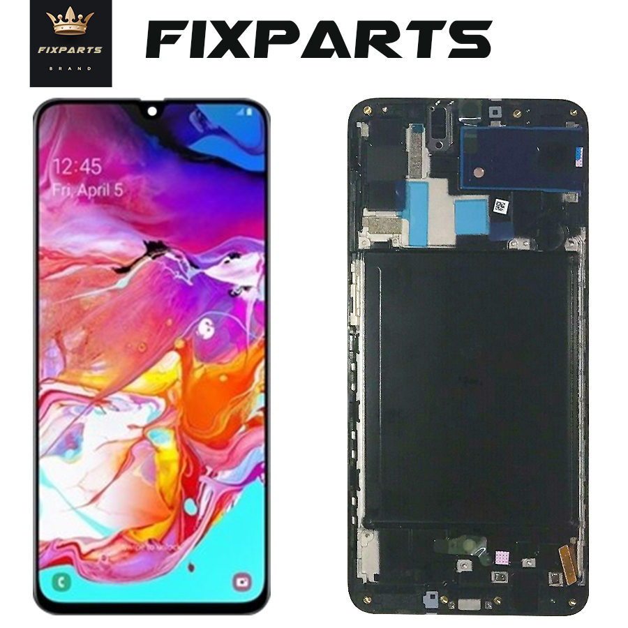 ORIGINAL SUPER AMOLED <font><b>LCD</b></font> for <font><b>SAMSUNG</b></font> Galaxy <font><b>A70</b></font> A705 Display Touch Screen Digitizer Assembly <font><b>A70</b></font> 2019 A705F <font><b>LCD</b></font> For <font><b>SAMSUNG</b></font> <font><b>A70</b></font> image
