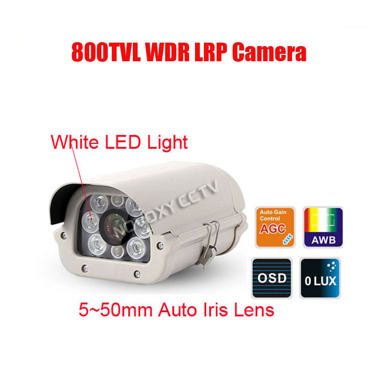 Free Shipping 800TVL Sony Effio-V Waterproof Car Vehicle License Plate Number Recognition WDR LPR Camera 5~50mm White Light LED