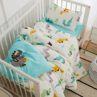 Baby Bedding Set 100Cotton Soft Breathable Crib Kit Include Duvet Cover Pillowcase Bed Sheet No Filler Custom Made Letter Bumper