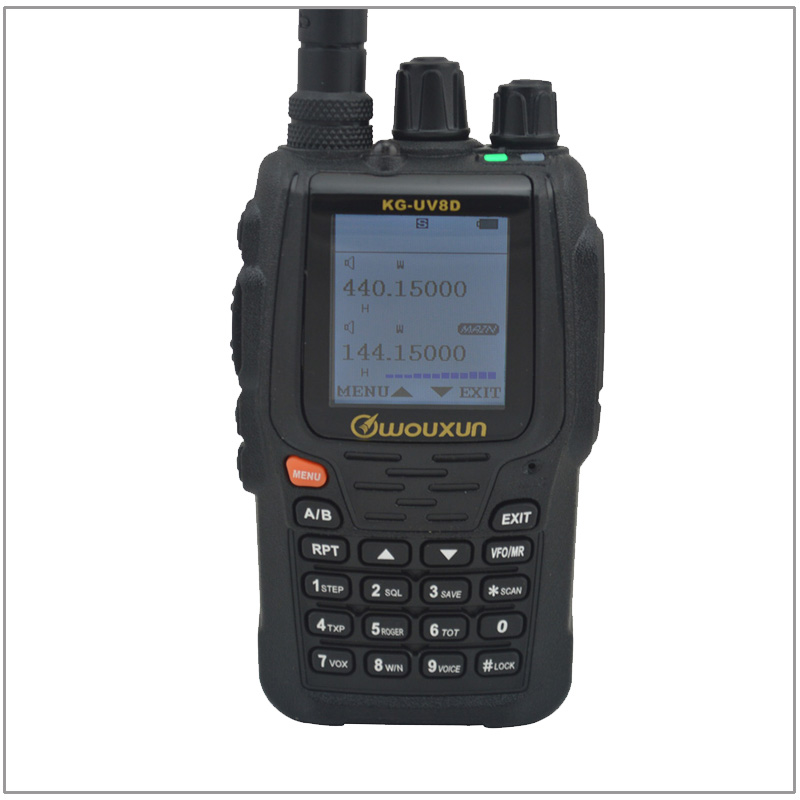 WOUXUN KG UV8D VHF:136 174MHz & UHF 400 480MHz Dual Band Multi functional DTMF Two way Radio(Duplex Repeater Mode)