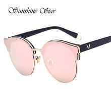 Pop edad reciente semi-sin montura cat ojo rosa medio marco gafas de sol de las mujeres de moda marca gafas de sol gafas de sol gafas 400uv