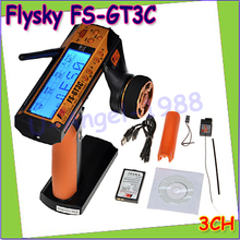 Оптовая продажа 1 шт. Flysky FS-GT3C FS gt3c 2.4 г 3ch RC автомобиль Системы/w батареи gr3e приемник Радио контроллер прямая поставка