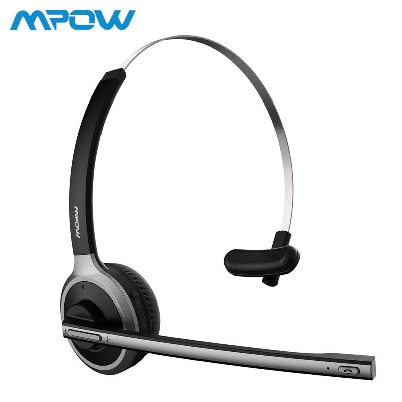 Mpow M5 Bluetooth V4.1 Headset Drahtlose Lkw Fahrer Kopfhörer Hände-freies Anruf Kopfhörer Mit Mic Für Call-Center Büro skype