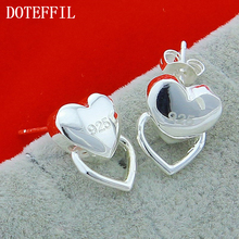 New Wholesale Fashion Silver Beautiful Earring Heart Brand Small Ears Plated Earrings Free Shipping E025