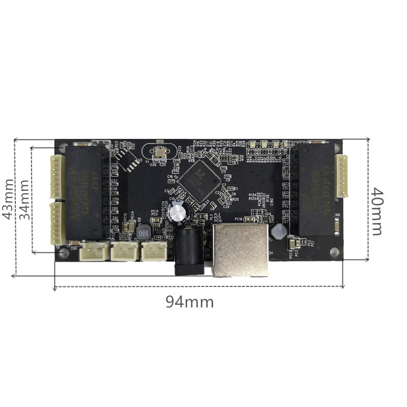Image 5 - Industrial Ethernet Switch Module 10/100/1000mbps 4/5/6 port PCBA board OEM Auto sensing Ports PCBA board OEM  Motherboard-in Network Switches from Computer & Office