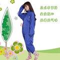 Adulto impermeable ropa impermeable de la bicicleta eléctrica paseo de una pieza de la mujer de edad las niñas rainpants ecológico