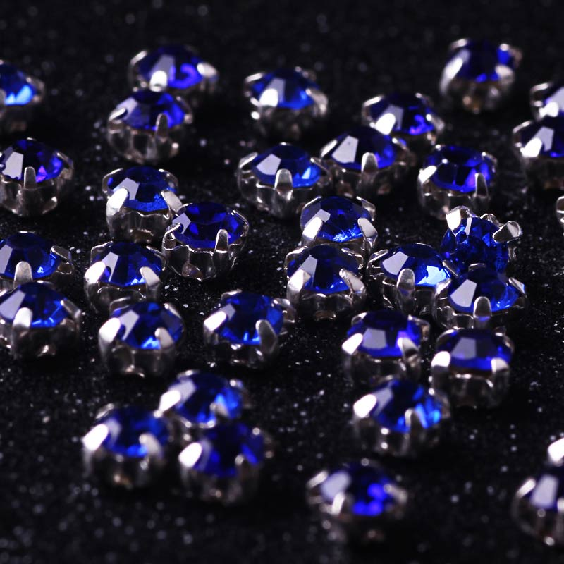 4mm 100pcs Mix Strass Colors Resin Sew On Rhinestones With Gold Claw Flatback White Glass Sew On Claw Rhinestones For Garment in Rhinestones from Home Garden