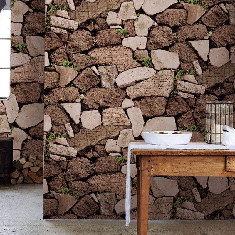 comprar alta calidad rollo de papel de vinilo para paredes de piedra de imitacin de ladrillo de la vendimia d pvc impermeable del papel