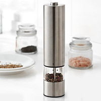 Practical Stainless Steel Electric Pepper Salt Grinder Mill For Seasoning Grinding Kitchen Tools