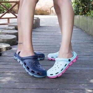Image 1 - Mens Rubber Beach Sandals Summer Shoe Clogs Men Garden Shoes Clog Zuecos Hombre Sandalias Playa Cholas Outdoor Plus Big Size