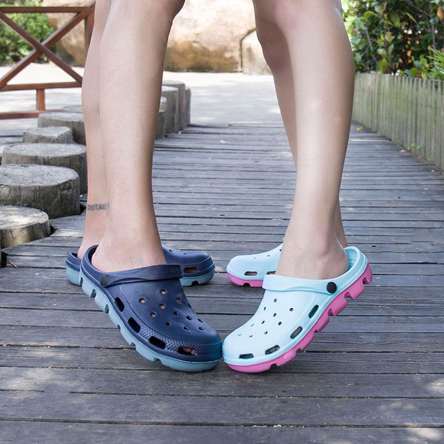 Mens Rubber Beach Sandals Summer Shoe Clogs Men Garden Shoes Clog Zuecos Hombre Sandalias Playa Cholas Outdoor Plus Big Size