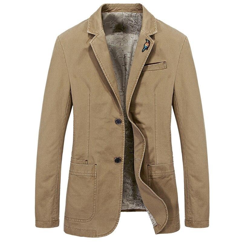 2017 Autumn Brand Men s Cotton Blazer Slim Groom Suit Jacket Latest Coat Designs High Quality