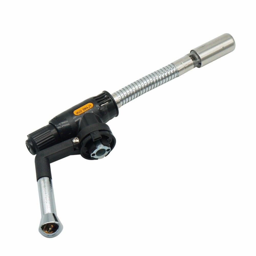 ТД хорошее качество гибкие бутан горелки Воздуходувы сварки на открытом воздухе кемпинга Принадлежности для шашлыков газовая зажигалка ... ...
