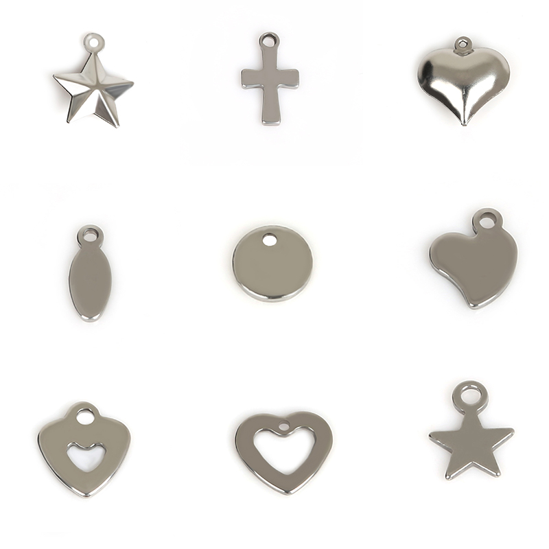 20-50pcs Anchor Key Saddle Stainless Steel Charms Pendants  For Jewelry Making Necklace Bracelet DIY Fashion Jewelry Findings