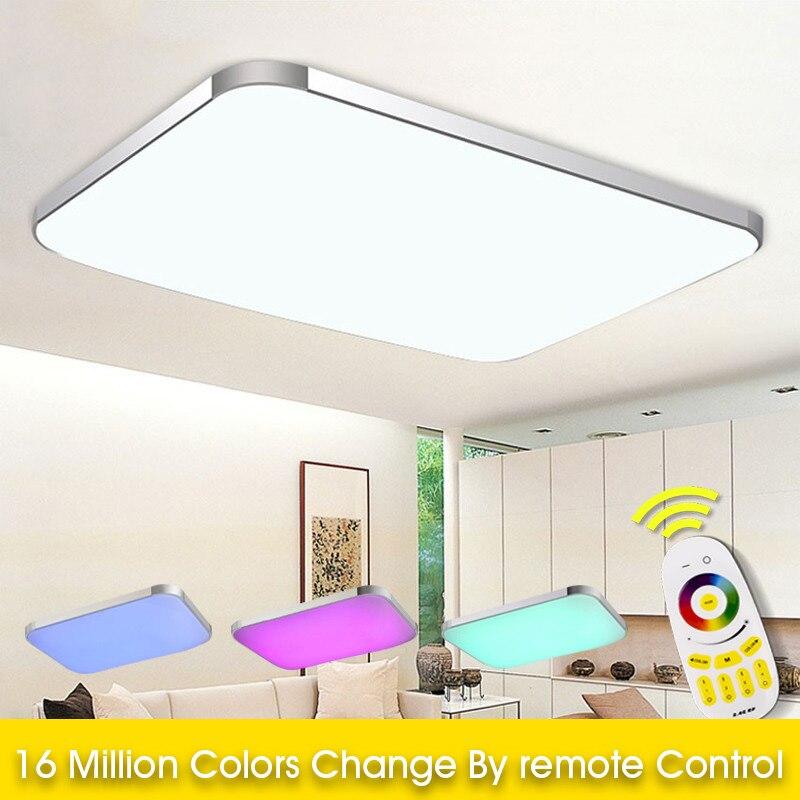 Современный дистанционный светодио дный RGB светодиодный потолочный светильник с красочным и диммером светодио дный умный светодиодный пот...