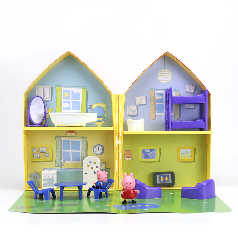 Image 4 - 2019 New Genuine PEPPA PIG   peppa pig's house playset with Peppa George figure KIDS TOY children's Birthday gift Hot sale-in Action & Toy Figures from Toys & Hobbies