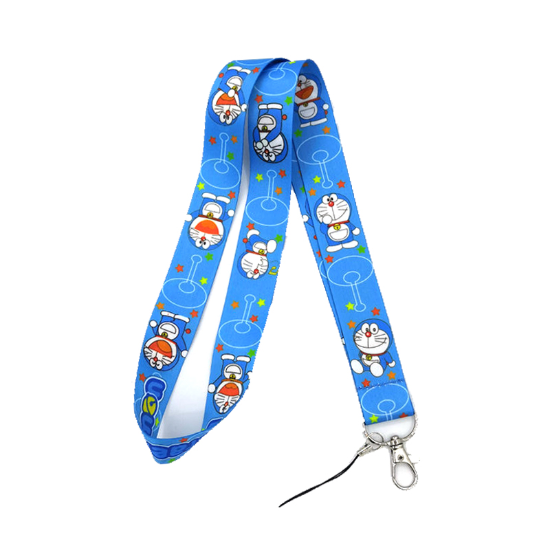 New Stitch Lanyard ID Strap Badge Holder Blue and Pink Cartoons Movie Characters