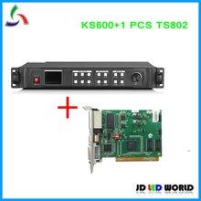 Kystar U1 заменить старую версию KS600 светодиодный видеопроцессор включает 1 шт. TS802 светодиод LINSN отправка карты DVI/VGA/HDMI вход