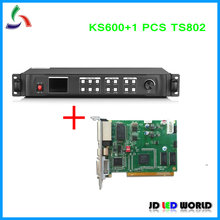 Kystar U1 Replace old version KS600 LED Video Processor include1 PCS TS802 Linsn LED Sending card DVI/VGA/HDMI input