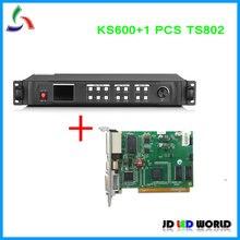 Kystar procesador de vídeo LED, KS600 versión antigua, U1 Uds., TS802, LED, tarjeta de envío Linsn, entrada DVI/VGA/HDMI